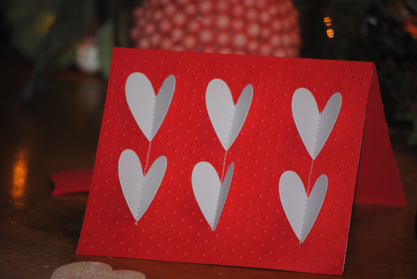 How to make a Valentines card using a sewing machine Craft – Pinterest Valentine Cards