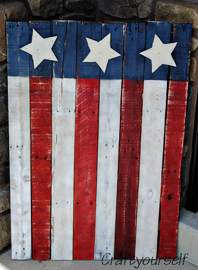American Flag made from a Pallet