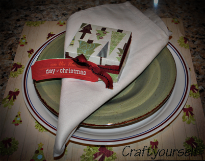 Christmas in July – Holiday place settings #1