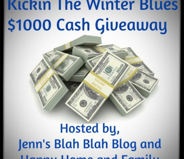 $1,000 Kickin' the winter blues cash giveaway