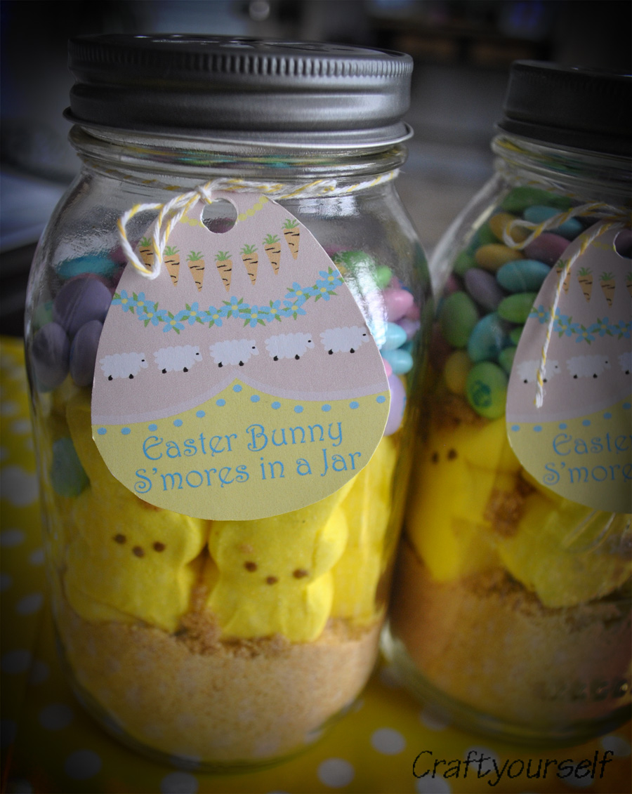 Easter smores in a jar craft smores in a jar negle Image collections