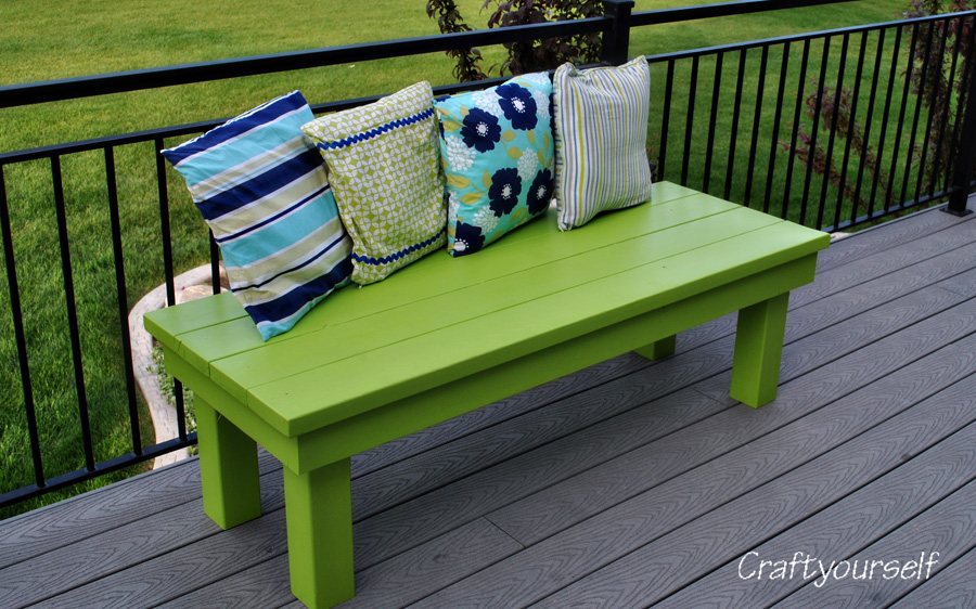 Outdoor handmade wood Bench