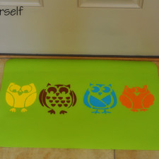 Owl mat finished