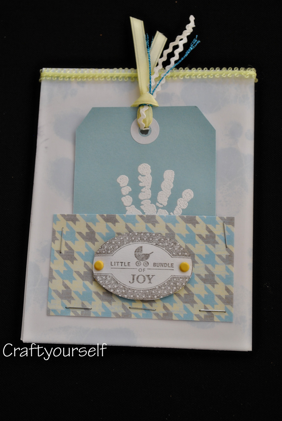 Baby Boy Hand made card