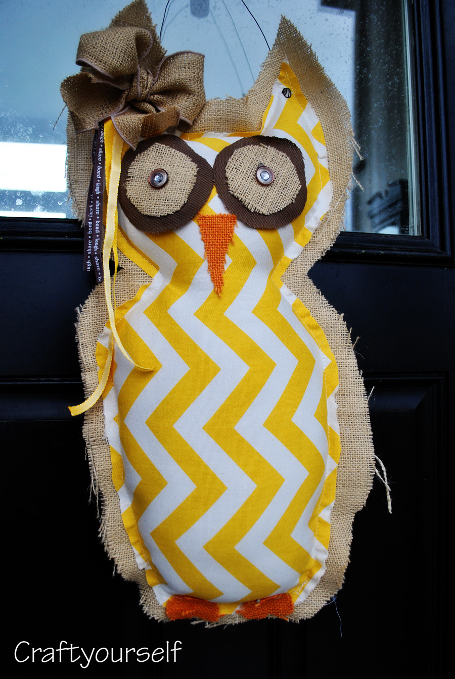 owl burlap finished