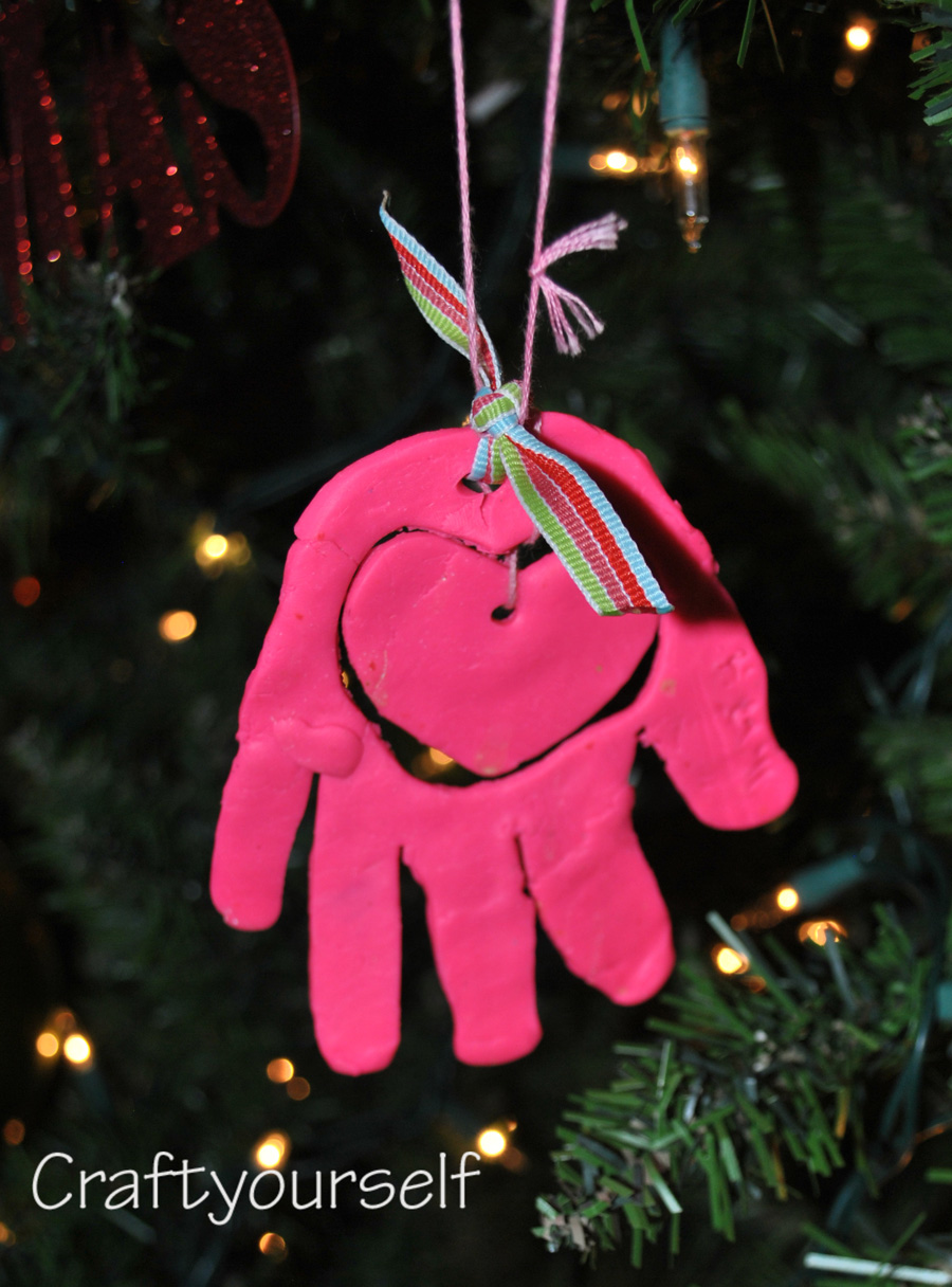 Crayola molding clay ornament
