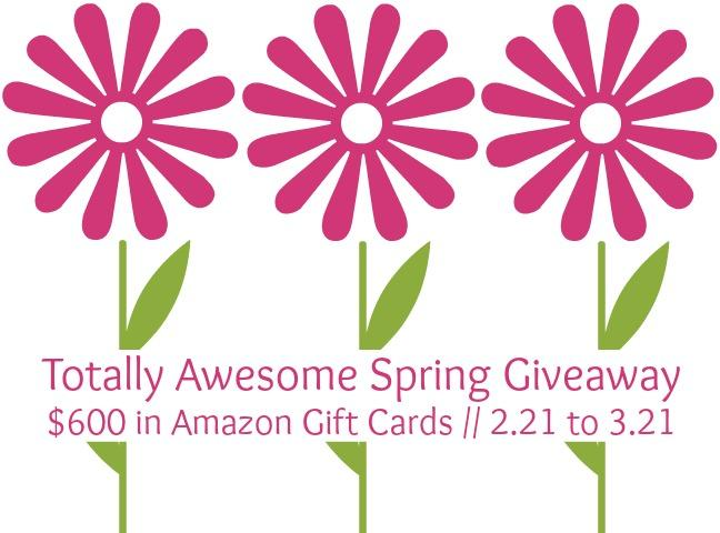 $500 Amazon Spring Giveaway!