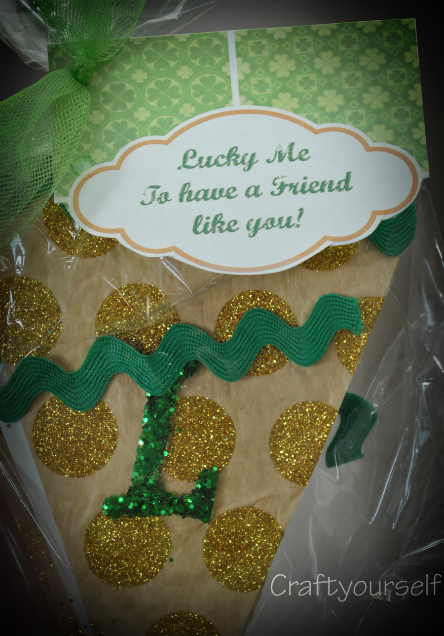Lucky St. Patrick's free printableTag and Banner