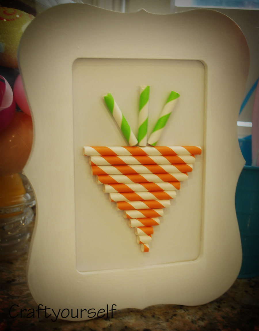 Paper Straw Easter Carrot