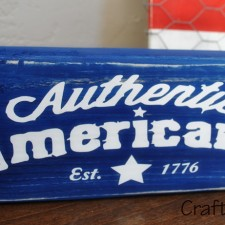 Americana Blue Wood Block