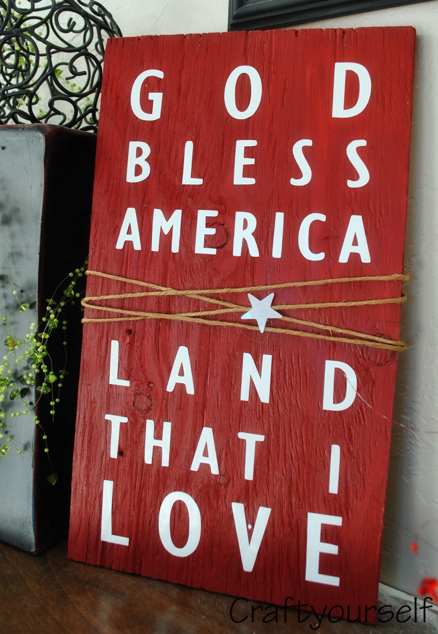 God Bless America Plaque