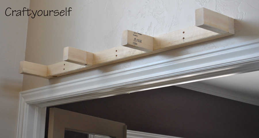Floating shelf roughed in