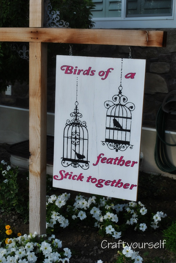 Birds of a feather stick together outdoor sign