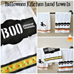 Halloween Kitchen towels Collage