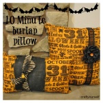 ten minute burlap pillow Collage
