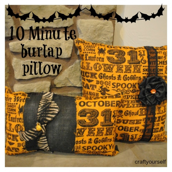 Beginner Sewing 10 minute burlap pillow