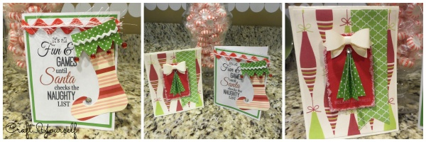 Christmas card idea's with a free printable card
