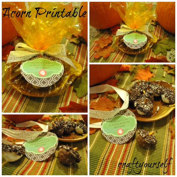 Free Fall Acorn Printable for giving Thanks!