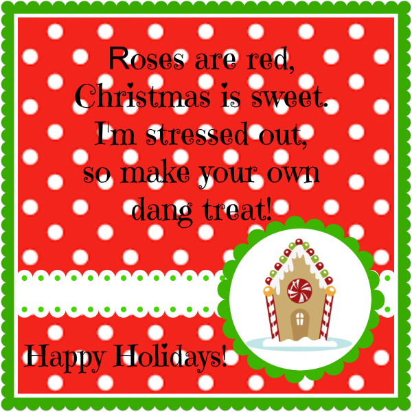 make your own treat christmas tag #2