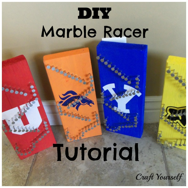 DIY Marble Racer Tutorial and Free Template
