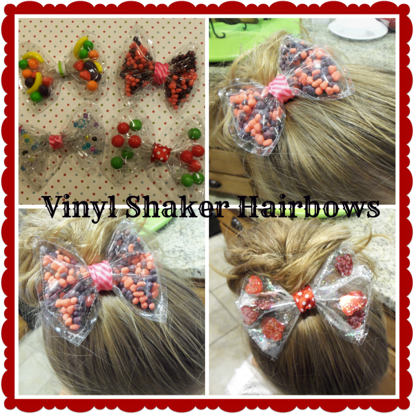 Clear Vinyl Shaker Hair Bows With Video Tutorial Craft