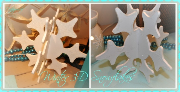 3D Snowflake Collage