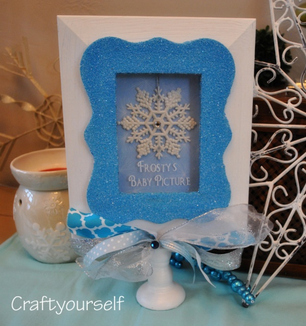 "Snowflake picture stand ""Frosty's Baby Picture"""