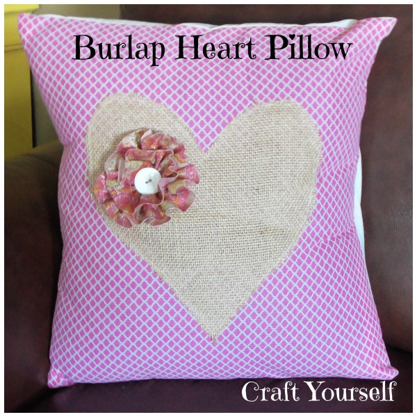 Burlap Heart Door Hanger & Pillow