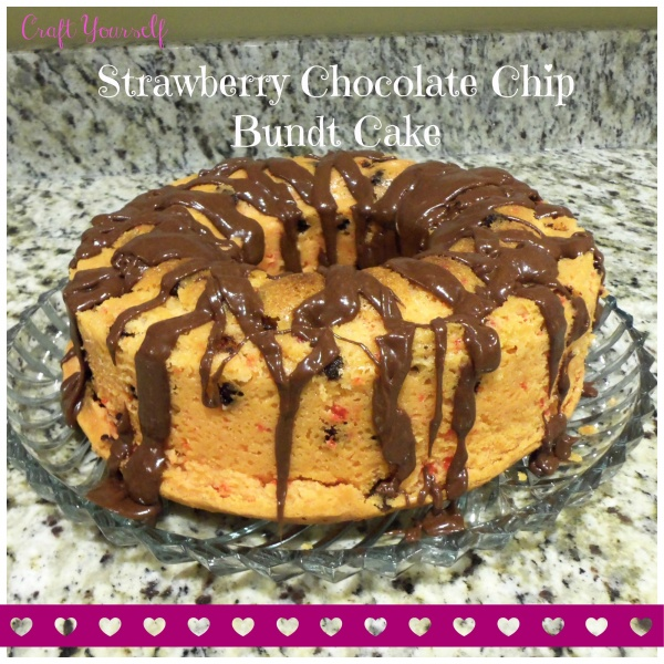 Dense And Tasty Strawberry Chocolate Chip Bunt Cake