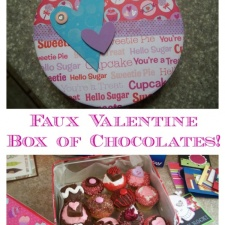 faux box of choclates