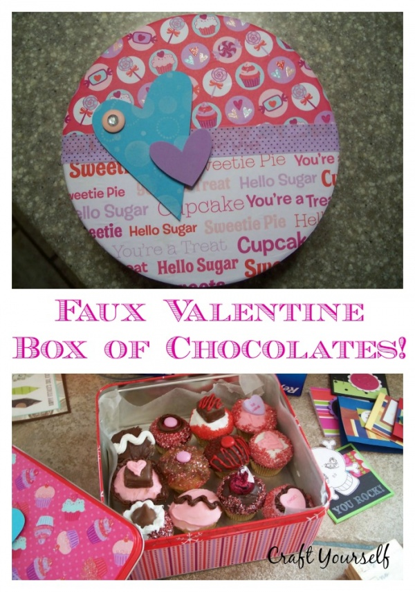 Faux Valentine Chocolate box