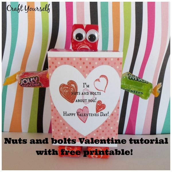 Robot Valentine kids tutorial with free printable