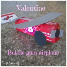 valentine bubble gum airplane
