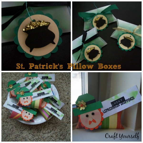 St. Patrick's Pillow Boxes