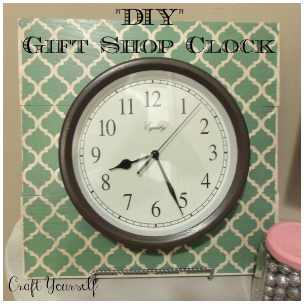 """DIY"" Gift shop clock"