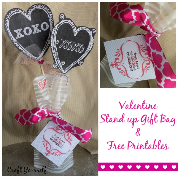 "Stand up gift bags ""gift ideas for all occasions"" free printables"