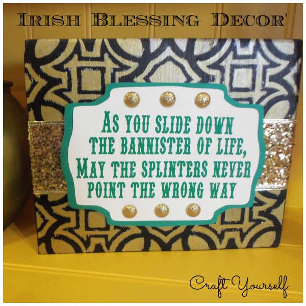 Irish Blessing Wood Home Decor'