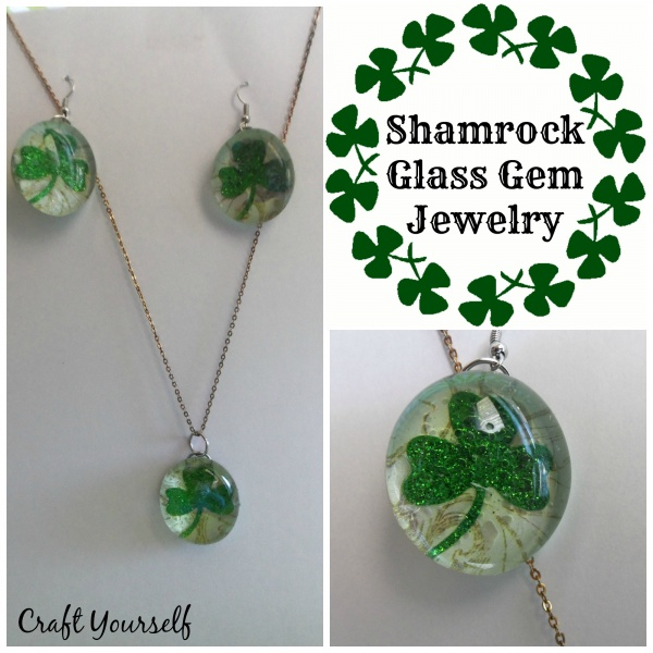 Shamrock Glass Gem Jewelry