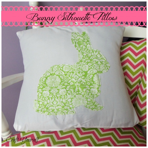 Bunny Silhouette pillow