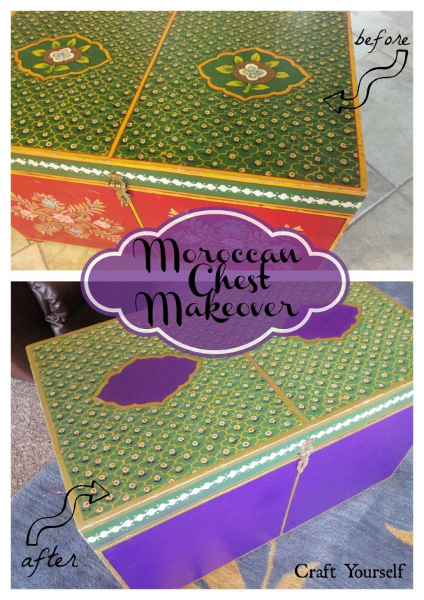 Moroccan Chest Makeover