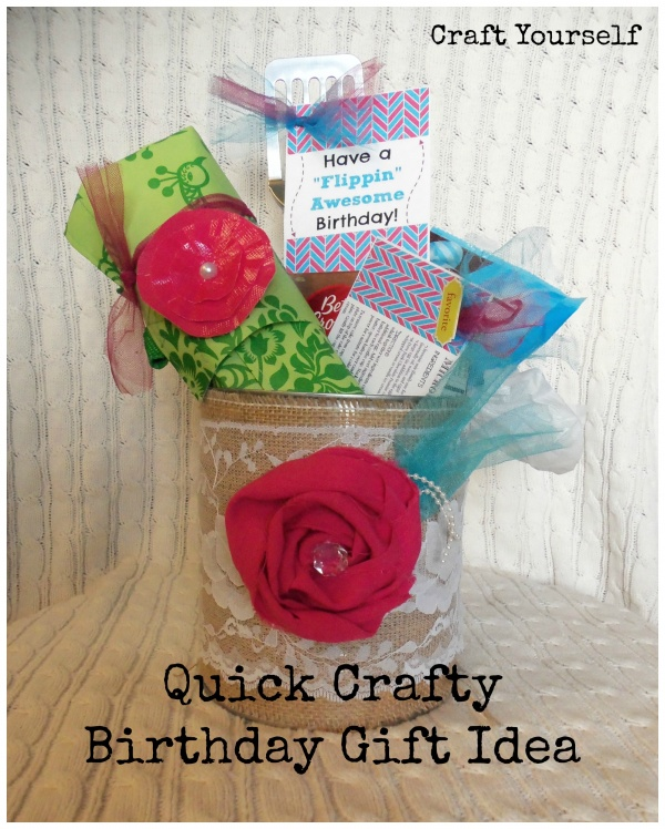 Quick Crafty Birthday Gift Idea