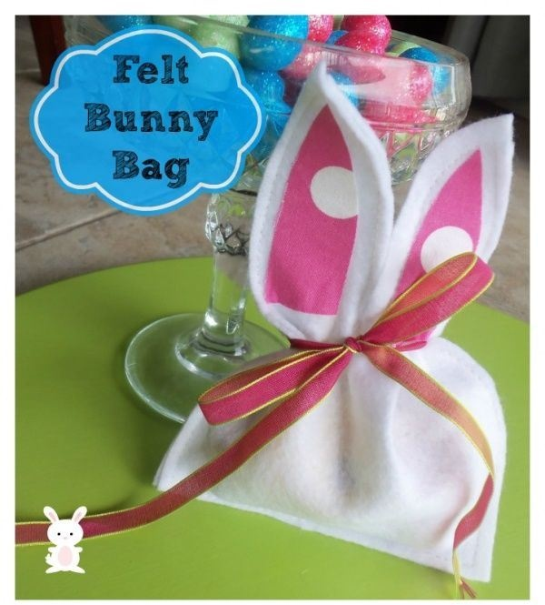 Felt Bunny Treat Bags