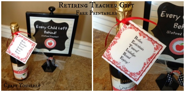 Retiring teacher gift with free printables craft retiring teacher gift with free printables solutioingenieria