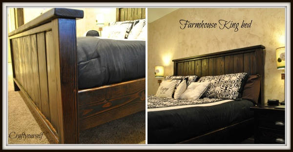 Farmhouse King Size Bed Craft