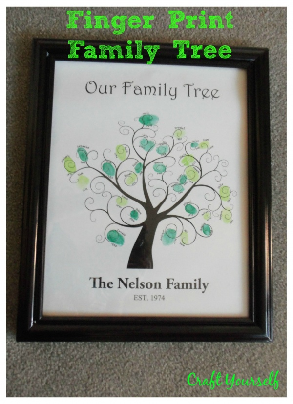 Family tree finger prints