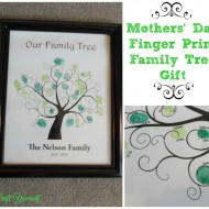 Mother's Day Finger print family tree gift