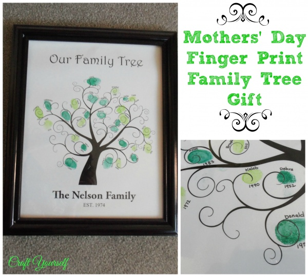 Mothers' day gift Finger Print Family Tree