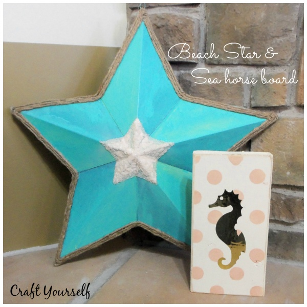 beach star and sea horse board