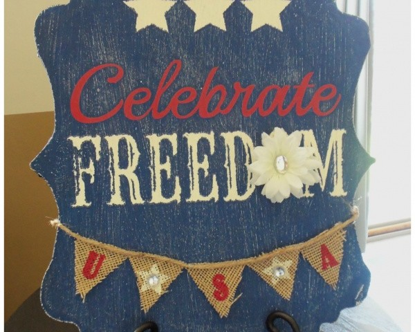 "Celebrate Freedom Board ""Hobby Lobby Knock off"""