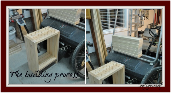 Farmhouse nightstand building